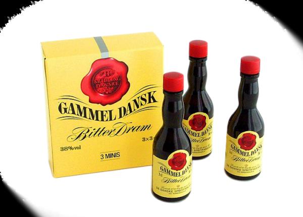Gammel Dansk 3 x 3 cl.